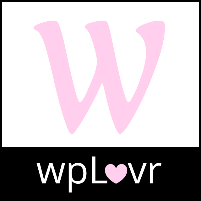 wplovr square pink and black logo